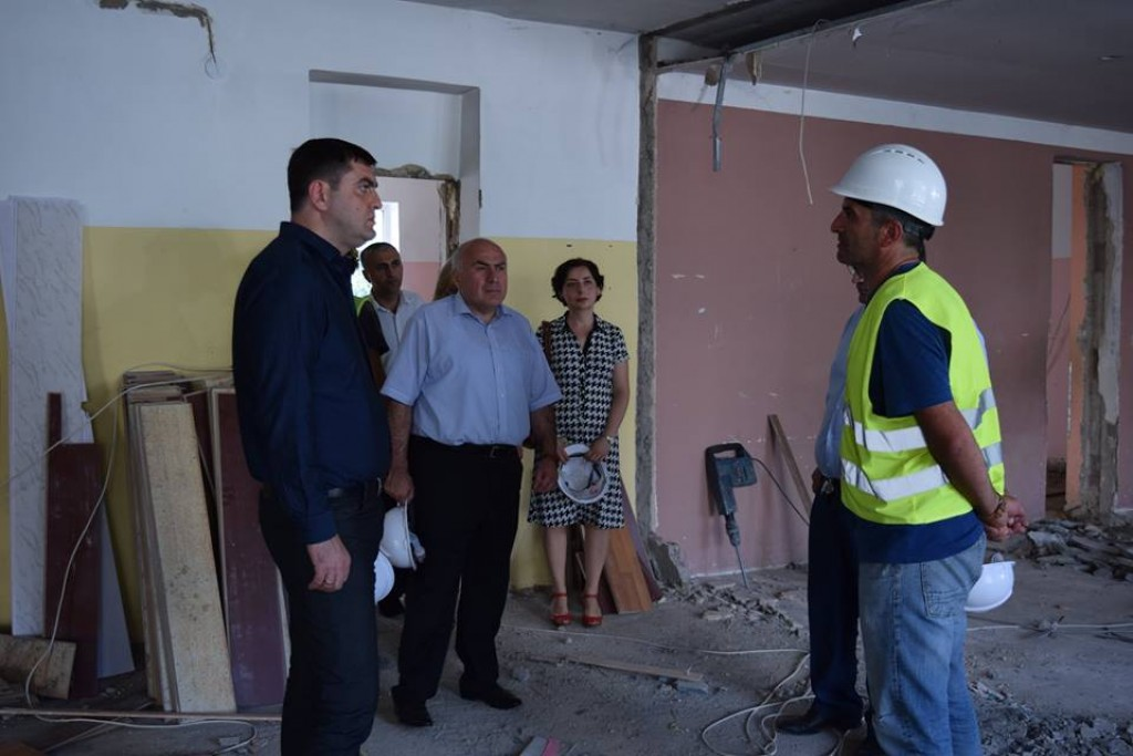 Infrastructure projects in Rustavi schools