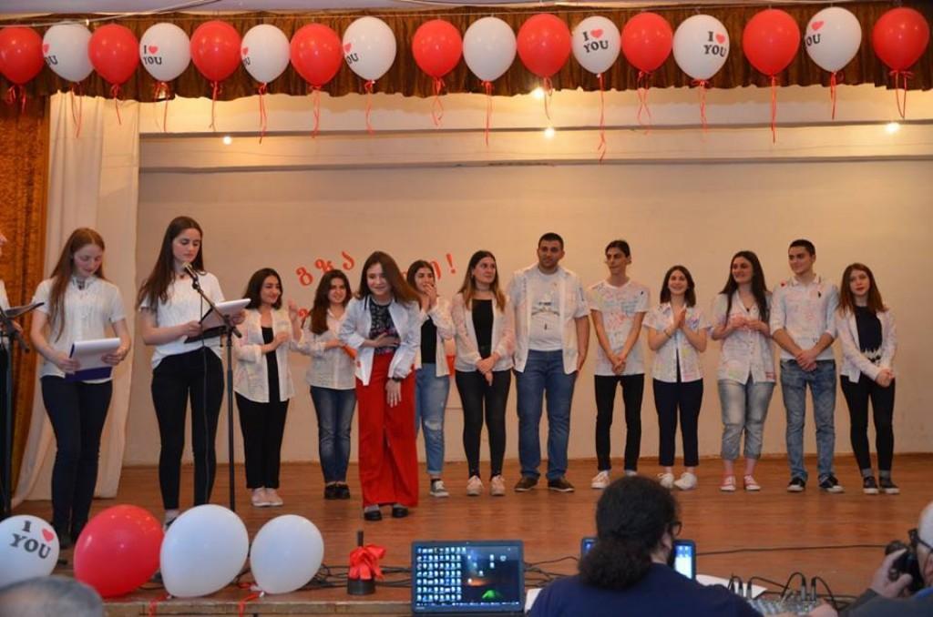 Graduation evening in Rustavi # 4 public school