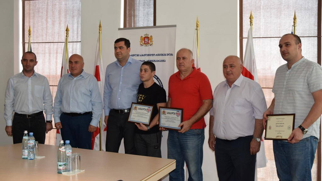 The governor awarded the successful  sportsman from Rustavi