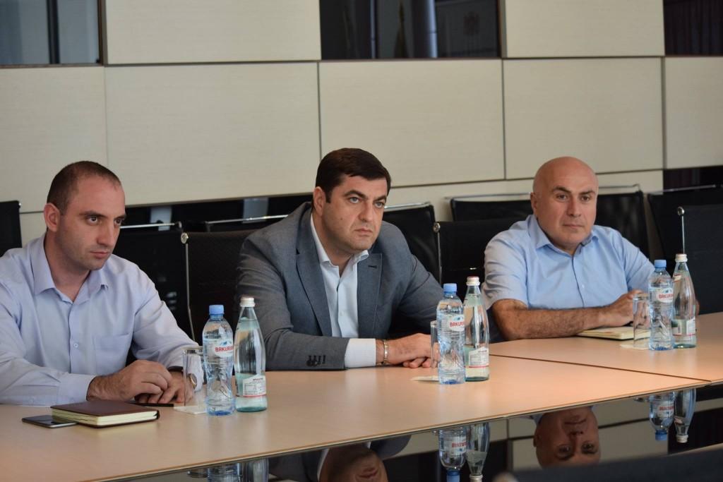 Grigol Nemsadze met with the new art director of the theater