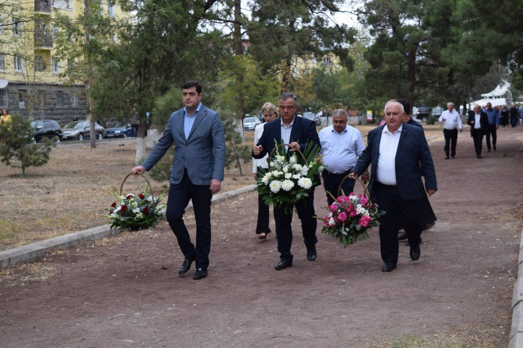 Grigol Nemsadze paid tribute to the memory of national heroes