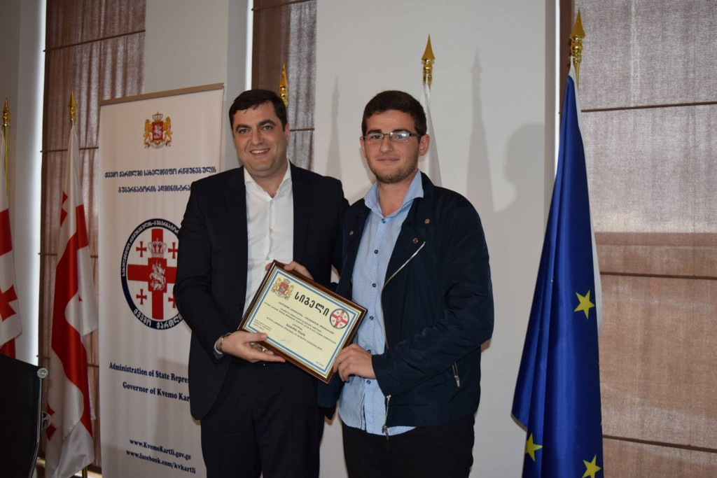 Grigol Nemsadze awarded a successful youngster
