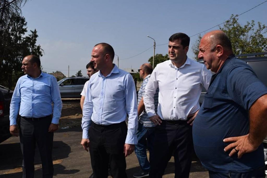 A five kilometer new road is made in Marabda