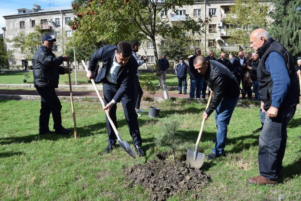 The veteran's day was marked in Rustavi