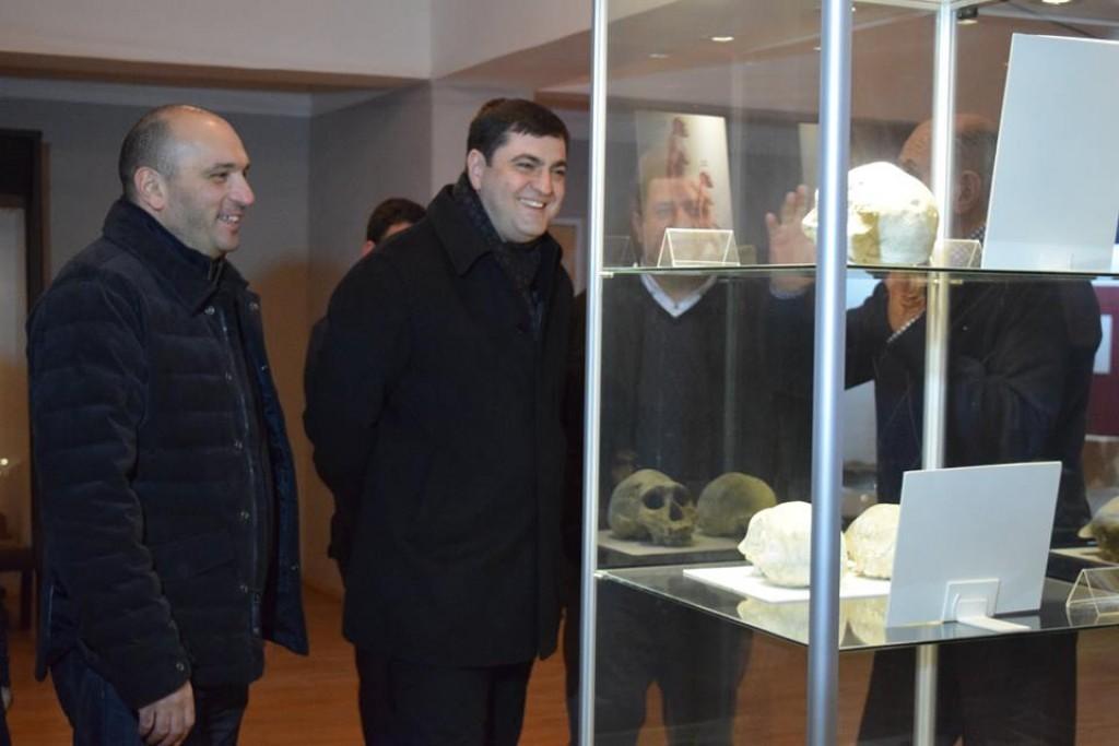 Grigol Nemsadze got acquainted with the exhibits in Dmanisi Museum