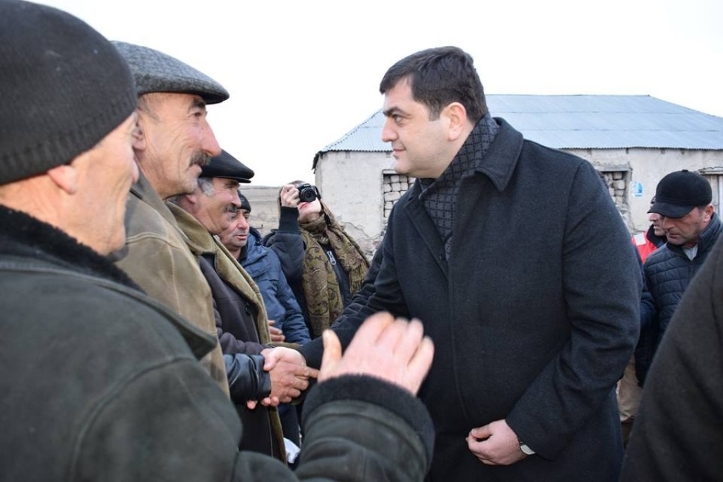 Meeting with the residents of the village of Useinkend