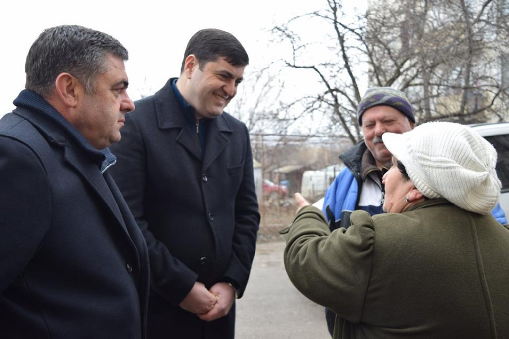 Meeting with the population of Kazreti