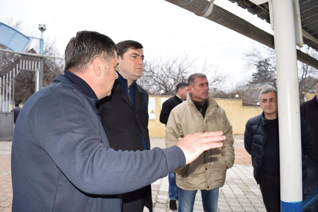 The governor got acquainted with the infrastructure of the stadium in Bolnisi