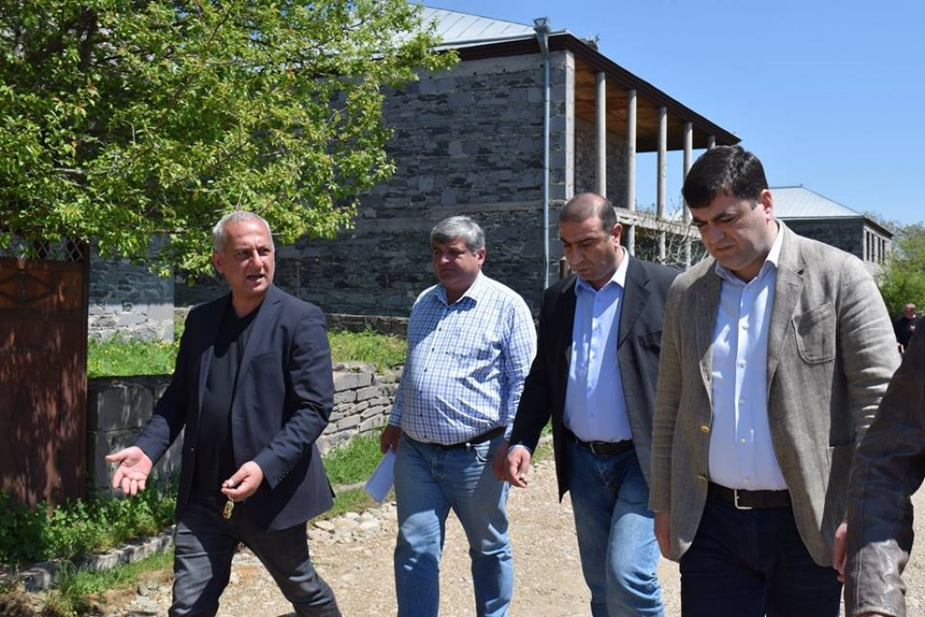 Governor of Kvemo Kartli Grigol Nemsadze got acquainted with ongoing infrastructural projects in Tetritskaro municipality