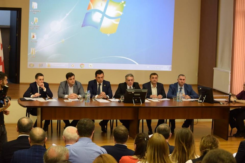 Free industrial zones were discussed in Rustavi