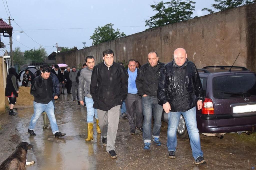 Grigol Nemsadze in the Marneuli disaster liquidation works