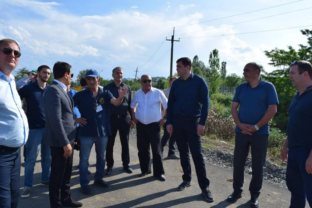 Grigol Nemsadze visited infrastructural projects in Marneuli