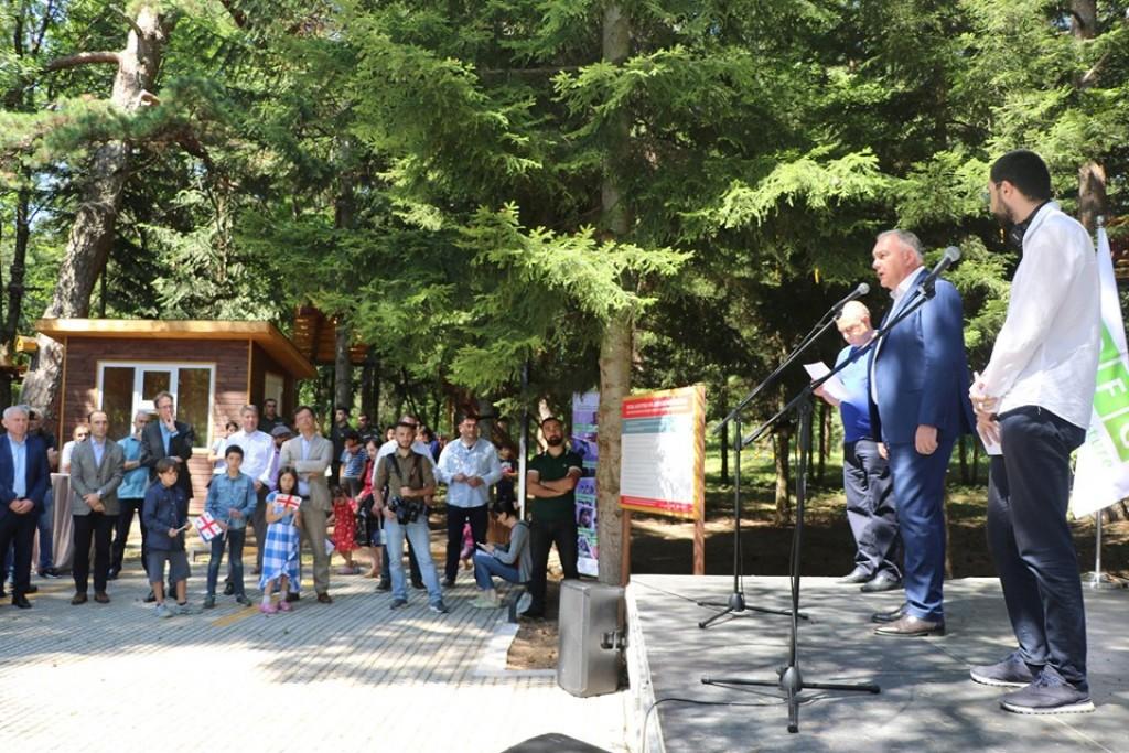 ალგეთის ეროვნულ პარკში ვიზიტორთა ცენტრი და თოკების პარკი გაიხსნა