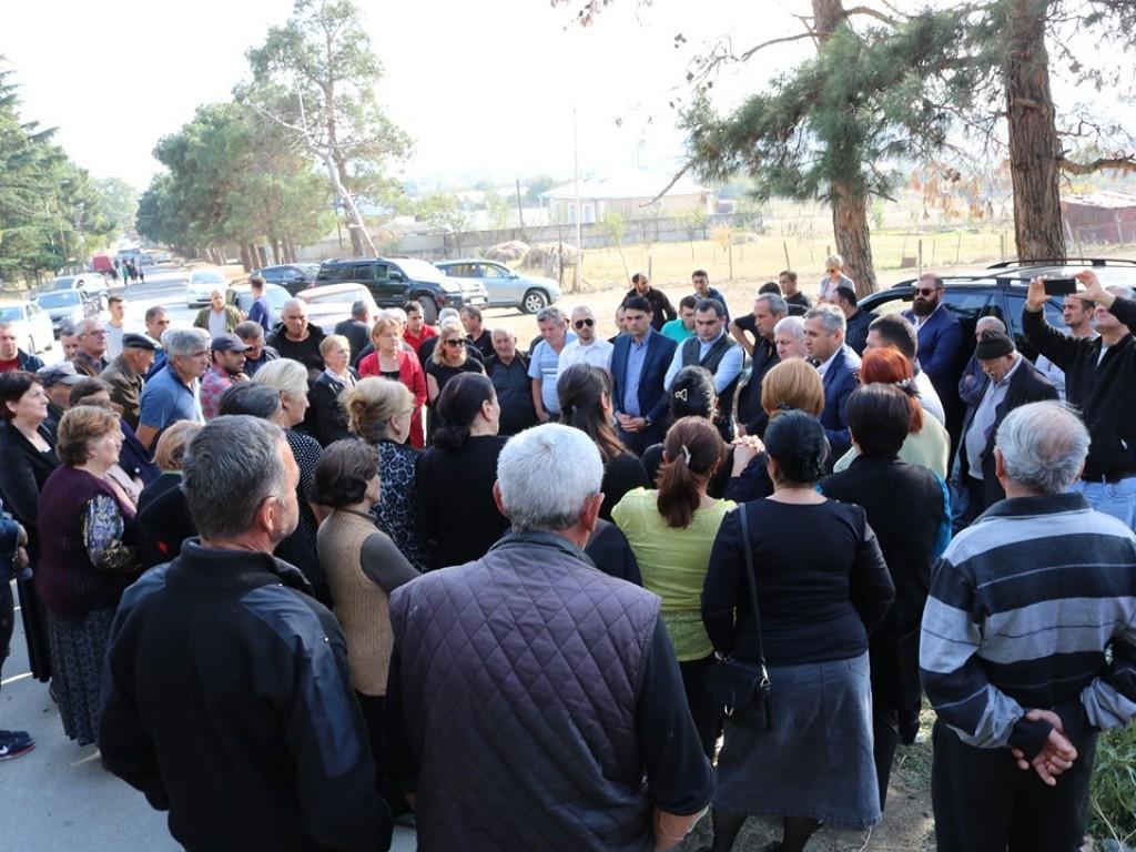 ღია შეხვედრები გარდაბნის მუნიციპალიტეტის მოსახლეობასთან