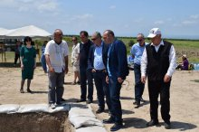 Study of archaeological monument in Marneuli