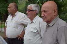 Meeting with the inhabitants of the village Algeti