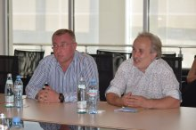 Grigol Nemsadze met with the new art director of the theater