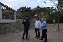 The governor got acquainted with the ongoing infrastructure projects in Rustavi