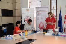 Grigol Nemsadze participated in blood transfusion action