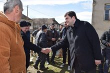 Meeting with the population of the village Trialeti