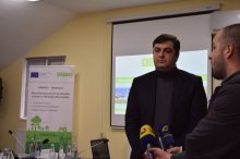 Grigol Nemsadze at the presentation of the EU partner organization project