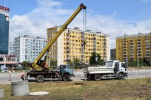 Disaster liquidation works in Rustavi