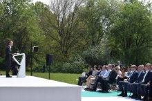 შოთა რეხვიაშვილი კრწანისის ტყე-პარკში ბიომრავალფეროვნების აღდგენის პროგრამის პრეზენტაციას დაესწრო