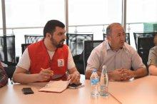 სამუშაო შეხვედრა წითელი ჯვრის წარმომადგენლებთან