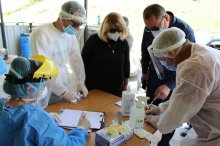 სოფელ მუშევანში მოსახლეობის გაფართოებული PCR ტესტირება ჩატარდა