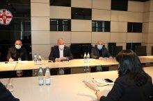 სამუშაო შეხვედრა საერთაშორისო დონორი ორგანიზაციის წარმომადგენლებთან